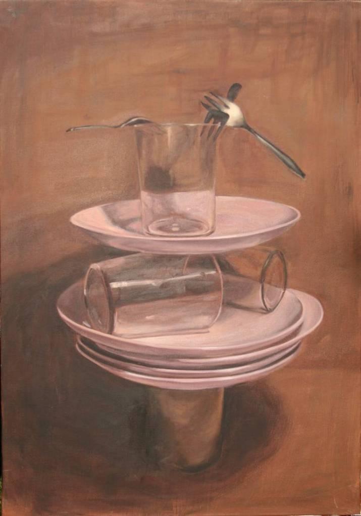 Vasos, platos y tenedores en equilibrio 3